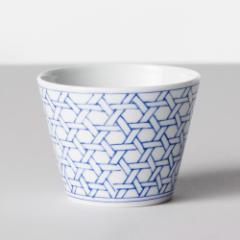 BARBAR そばちょこ 和文/青 龍目文(WMB05) 蕎麦猪口大辞典 波佐見焼・磁器 長崎県の工芸品 Buckwheat cup, Hasamiyaki