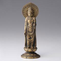 仏像 高岡鋳物 聖観音菩薩 16cm (BZ-043) インテリア鋳造仏 Casting Buddha statue Takaoka imono Seikanon bosatsu