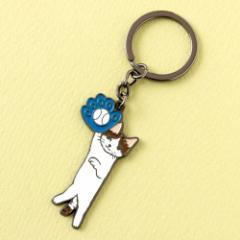 キーホルダー ボール (KH-05) ポタリングキャット Cat illustration key ring, Pottering cat