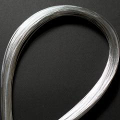 単色水引100本セット 光 銀 (MZH-18) 工作用・材料