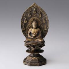 仏像 高岡鋳物 薬師如来座像 18cm (BZ-116) インテリア鋳造仏 Casting Buddha statue Takaoka imono Yakushinyoraizazou