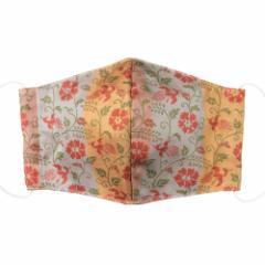 京都 あらいそ 西陣織名物裂 和装マスク030 飛鳥華紋 正絹織物とガーゼを組み合わせた和風スタイルマスク 男女兼用 Kyoto nishijin