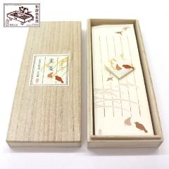 和詩倶楽部 桐箱入り一筆箋 雀箋 100枚入 (KI-011)