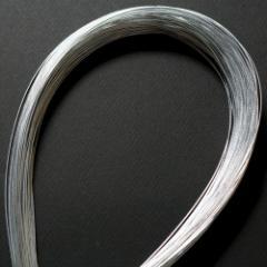 単色水引100本セット アルミ 銀 (MZH-20) 工作用・材料