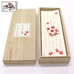 和詩倶楽部 桐箱入り一筆箋 だるま箋 100枚入 (KI-012)