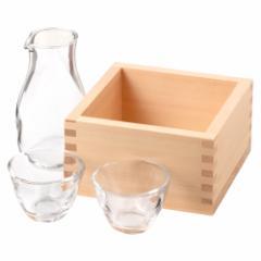 自宅で日本酒を楽しむ ひのき枡の冷酒クーラーと徳利盃セット 五合枡+徳利+盃 Sake cooler and Liquor set