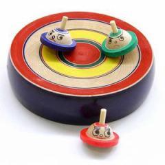 はっけよーい! 相撲独楽 台付き(大) 山形県の木地玩具