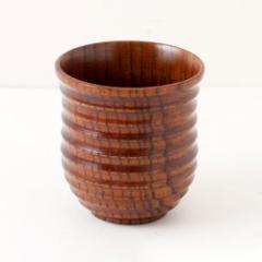 木製漆塗り湯呑み ナツメ Wooden teacup