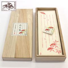 和詩倶楽部 桐箱入り一筆箋 南天箋 100枚入 (KI-015)