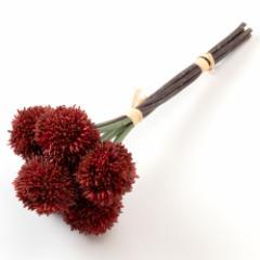 いろはに花 手毬菊 レッド 気軽に飾る、季節を楽しむ日本らしい造花 Artificial flower