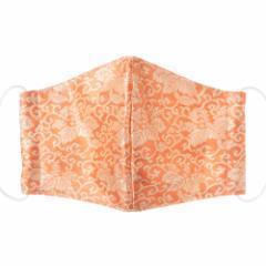 京都 あらいそ 西陣織名物裂 和装マスク035 桐唐草紹巴 正絹織物とガーゼを組み合わせた和風スタイルマスク 男女兼用 Kyoto nishij