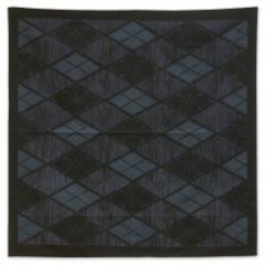 三巾風呂敷 菱文 黒 男性向け105cm幅綿ふろしき Furoshiki for men, Wrapping cloth