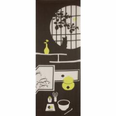 季節の彩るタペストリーに 飾り手拭い 茶室 グレー