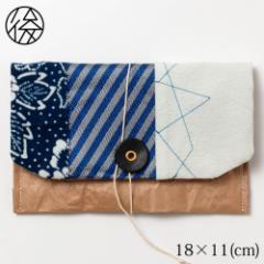 くるくる留めの小物入れ 001 米袋封筒のちほど Accessory case made of rice bag