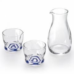 利き猪口 酒器セット 日本酒を美味しく飲むための酒器セット 徳利1個+盃2個 Sake glass set