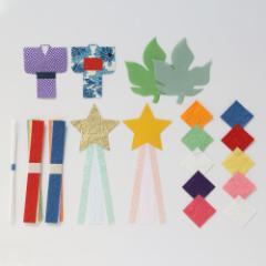 めでたや 七夕飾り つめあわせ 手作りキット Tanabata decoration