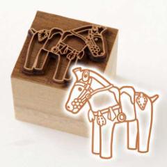 京からかみ 木版ミニスタンプ 添文 埴輪馬文 京都府の工芸品 Karakami woodblock stamp