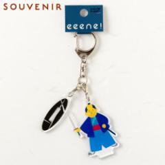キーホルダー 侍 構え フィギュア型和柄アクリルキーホルダー eeene! スーベニール Japanese style key fob made of acrylic