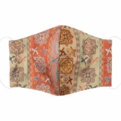 京都 あらいそ 西陣織名物裂 和装マスク039 長斑錦 正絹織物とガーゼを組み合わせた和風スタイルマスク 男女兼用 Kyoto nishijin,