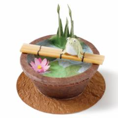 【和紙置物】めでたや めでたや遊び 睡蓮鉢