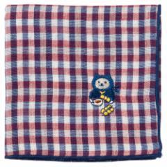 NYANJA 刺繍ハンカチ だんご ずっとこっちみてる猫の忍者 スーベニール Embroidered gauze handkerchief