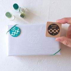 ありがとうはんこ 市松 消しゴムはんこ ただのやまもと Japanese pattern hanko stamp