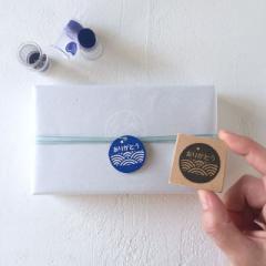 ありがとうはんこ 青海波 消しゴムはんこ ただのやまもと Japanese pattern hanko stamp