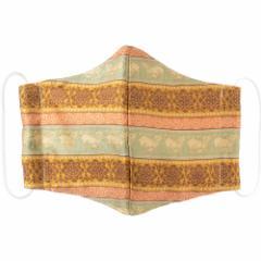 京都 あらいそ 西陣織名物裂 和装マスク004 段母子牛紹巴 正絹織物とガーゼを組み合わせた和風スタイルマスク 男女兼用 Kyoto nish