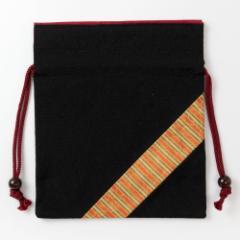 京都 あらいそ 西陣織名物裂 巾着袋053 Kyoto nishijin, Drawstring bag