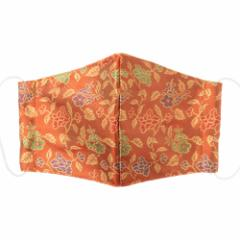 京都 あらいそ 西陣織名物裂 和装マスク044 梅椿唐草文様 正絹織物とガーゼを組み合わせた和風スタイルマスク 男女兼用 Kyoto nish