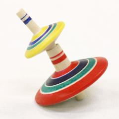 曲芸二段回し! 2段こま 山形県の木地玩具