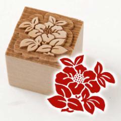 京からかみ 木版ミニスタンプ 添文 椿文 京都府の工芸品 Karakami woodblock stamp