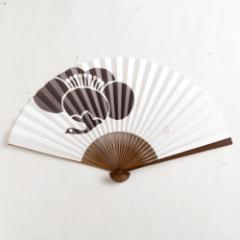 【扇子】傾奇扇 鶴梅 (SA-006) 和紙の扇子7寸5分 和詩倶楽部 Sensu fan, Washi-club ※在庫限り