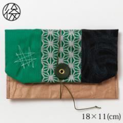 くるくる留めの小物入れ 010 米袋封筒のちほど Accessory case made of rice bag