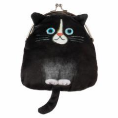猫のがま口ポーチ くろ ECOUTE! minette 化粧ポーチ・小物入れ まあるいおめめのキュートな猫たち