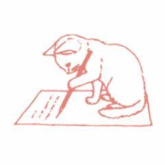 ポタリングキャット 猫はんこ 小サイズ 手紙(SH-12)