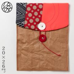 ちょこっとお出かけ封筒タテ型(A5サイズ)001 米袋封筒のちほど Handbag made of rice bag