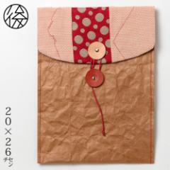 ちょこっとお出かけ封筒タテ型(A5サイズ)002 米袋封筒のちほど Handbag made of rice bag