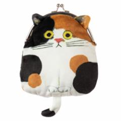 猫のがま口ポーチ みけ ECOUTE! minette 化粧ポーチ・小物入れ まあるいおめめのキュートな猫たち