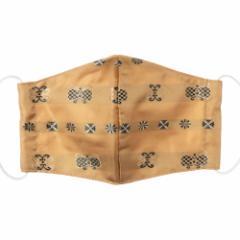 京都 あらいそ 西陣織名物裂 和装マスク047 漢丹 正絹織物とガーゼを組み合わせた和風スタイルマスク 男女兼用 Kyoto nishijin, Fa