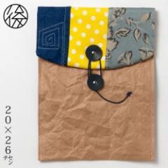 ちょこっとお出かけ封筒タテ型(A5サイズ)003 米袋封筒のちほど Handbag made of rice bag