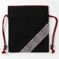 京都 あらいそ 西陣織名物裂 巾着袋070 Kyoto nishijin, Drawstring bag