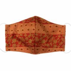 京都 あらいそ 西陣織名物裂 和装マスク048 井伊家伝来裂 段宝尽し模様 正絹織物とガーゼを組み合わせた和風スタイルマスク 男女兼