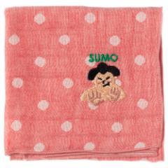 ジャパニーズハンカチ SUMO・相撲 刺繍入りガーゼハンカチ スーベニール Japanese pattern embroidered gauze handkerchief