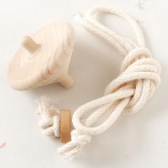 子供でもらくらく独楽回し!ラクコマII(大)投げ独楽 木地 福岡県の木工品 Throw top, Nagekoma, Fukuoka crafts