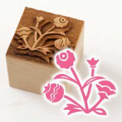 京からかみ 木版ミニスタンプ 添文 あざみ 京都府の工芸品 Karakami woodblock stamp