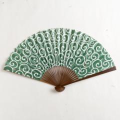【扇子】傾奇扇 泥棒唐草 (SA-011) 和紙の扇子7寸5分 和詩倶楽部 Sensu fan, Washi-club