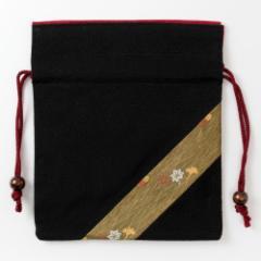 京都 あらいそ 西陣織名物裂 巾着袋074 Kyoto nishijin, Drawstring bag