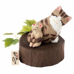 桐のこ人形 ひなたぼっこ 子年 正月干支飾り 木之本 福島県の工芸品 Handmade figurine, Fukushima craft