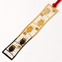 和柄ブックマーカー 福ふくろう (WAG012) 金の栞シリーズ 24K表面加工 金属製ブックマーカー Metal bookmark, Japanese pattern